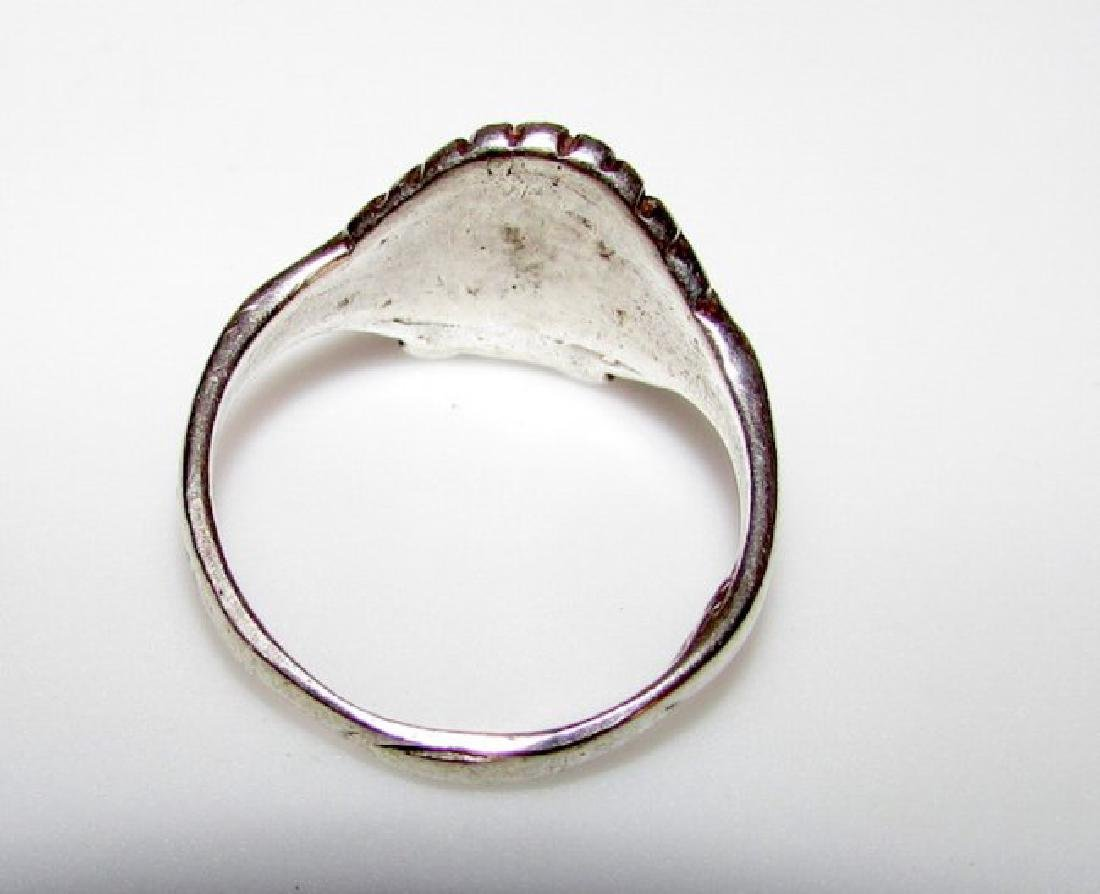 Native American Navajo Sterling Chief Ring 8 - 2