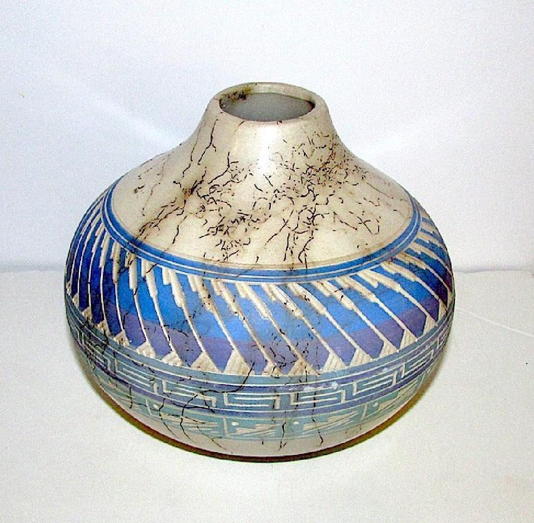 Navajo Tom Vail Horse Hair Pottery