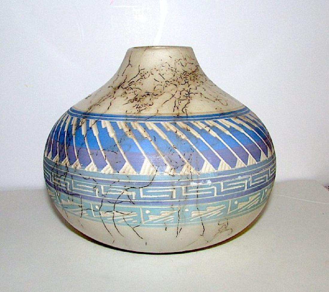 Navajo Tom Vail Horse Hair Pottery - 2