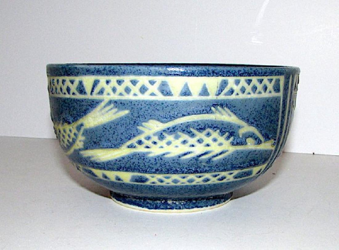 Mexican Folk Pottery Fish Bowl