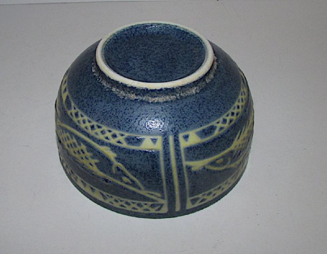 Mexican Folk Pottery Fish Bowl - 2