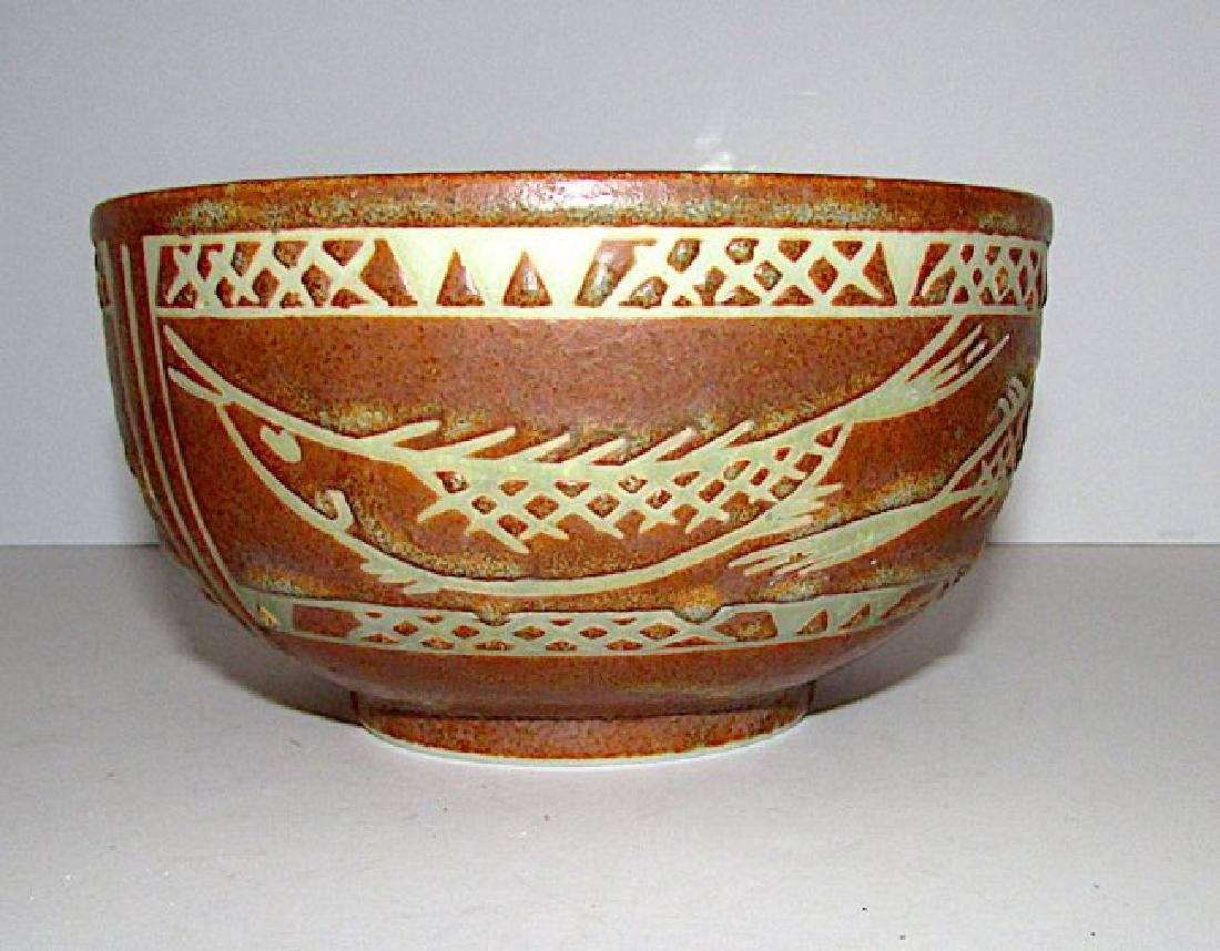 Mexican Folk Pottery Fish Bowl