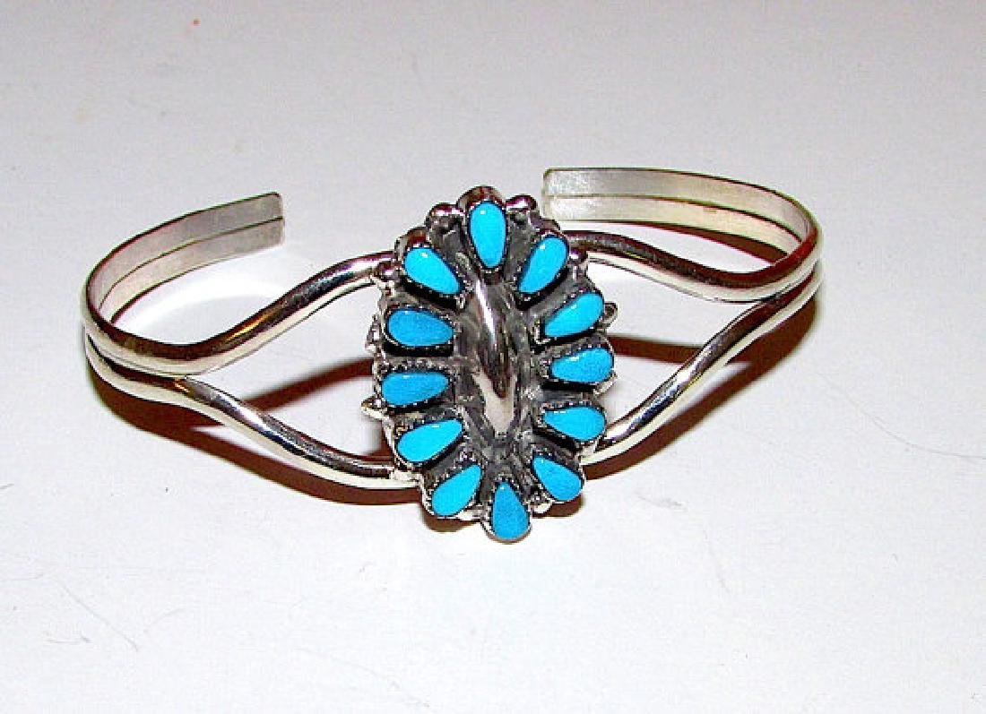 Native American ZUNI Sterling Silver Sleeping Beauty