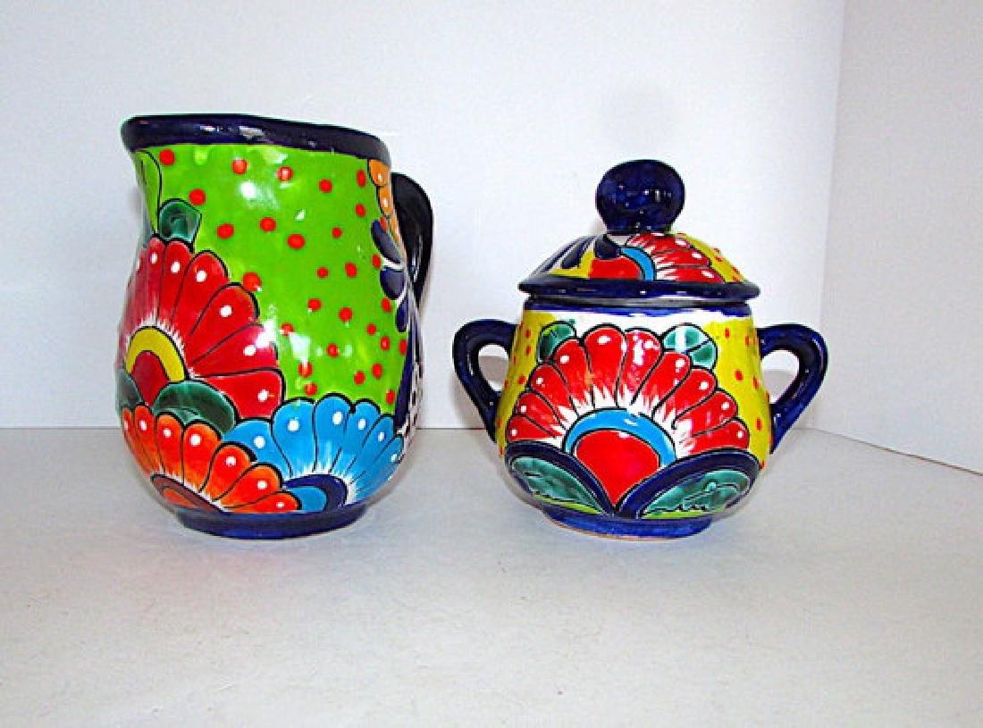 Mexican Talavera Pottery Decorative Folk Art Creamer