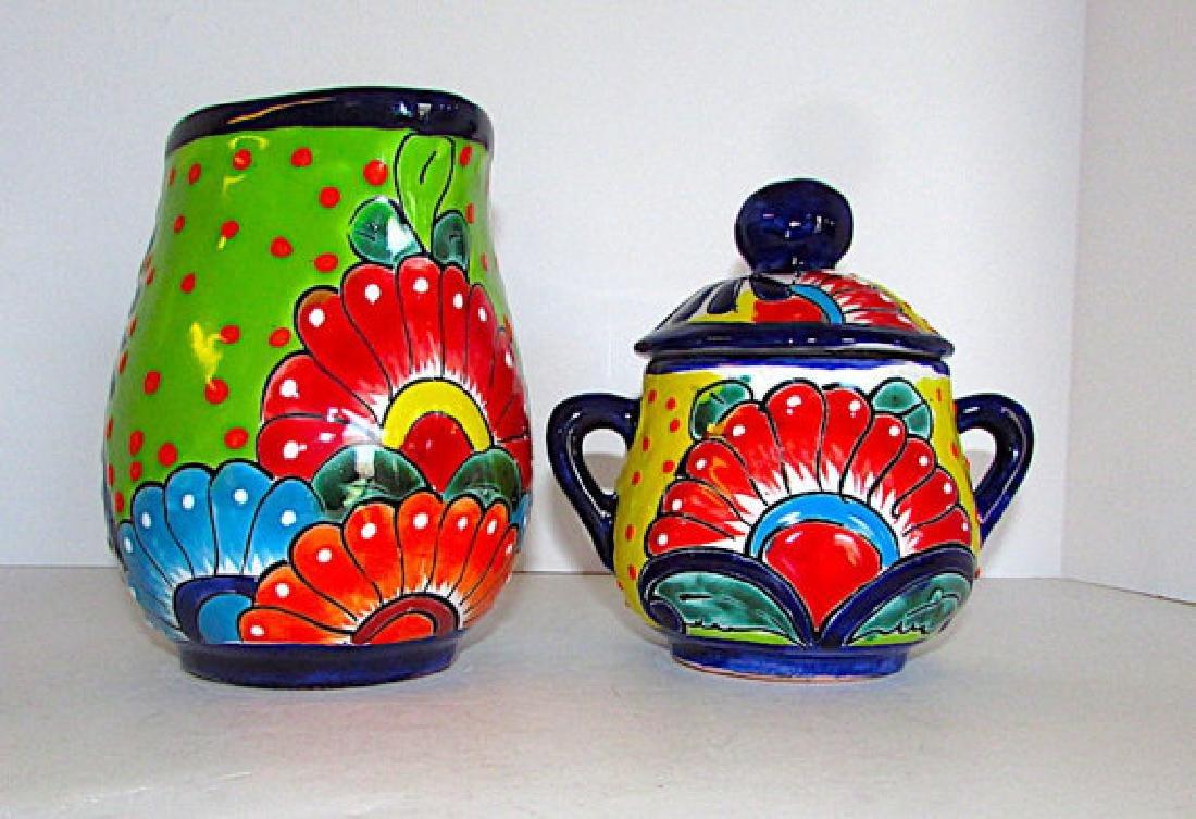 Mexican Talavera Pottery Decorative Folk Art Creamer - 2