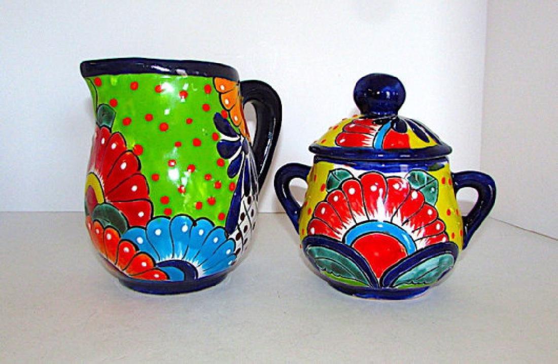 Mexican Talavera Pottery Decorative Folk Art Creamer - 3