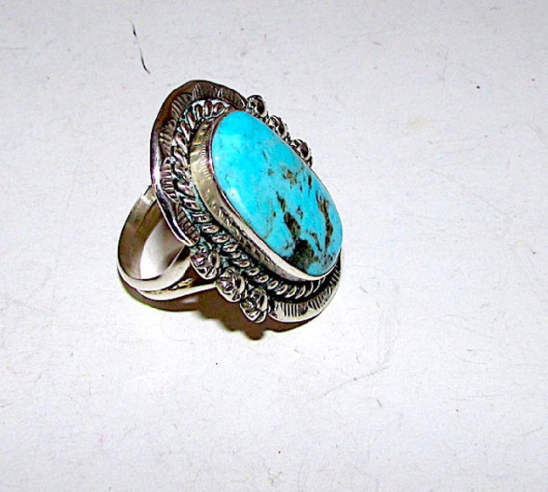 Vintage Native American Navajo Sterling Silver Dry - 3