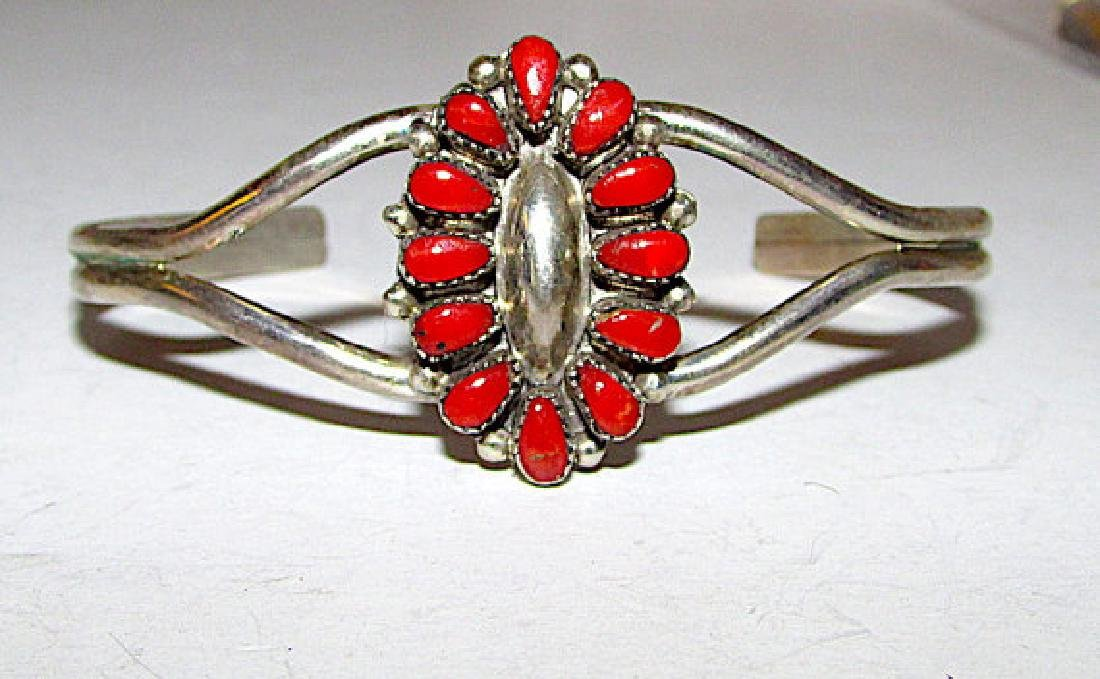 Native American ZUNI Sterling Silver Mediterranean