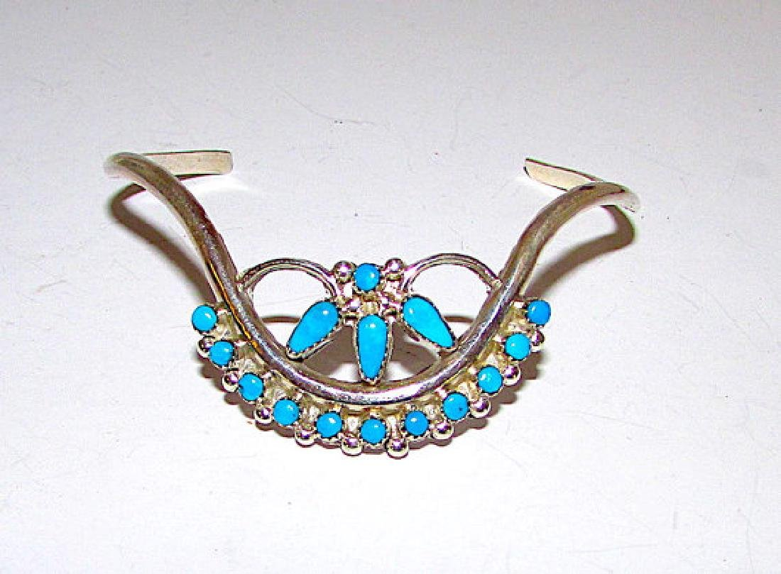 Old Pawn Zuni Sterling Silver Sleeping Beauty Mine
