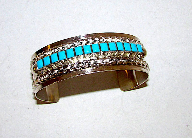 Navajo Sterling Turquoise Cuff Bracelet