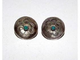Old Pawn Navajo Sterling Silver Turquoise Wedding
