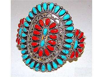 Old Pawn Vintage Native American Navajo Sterling Silver