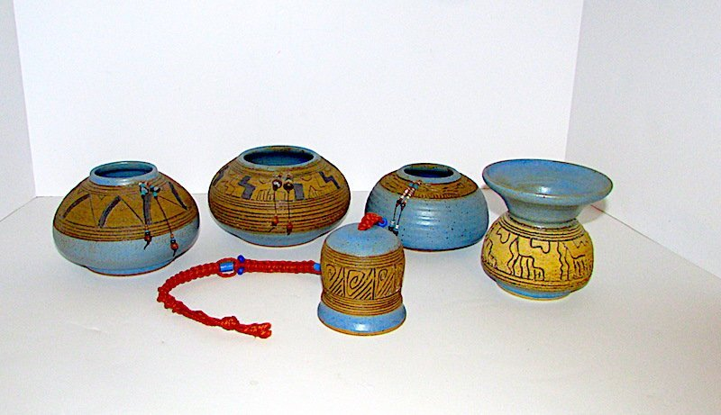 Collection of Vintage Navajo Pottery 5 Pieces