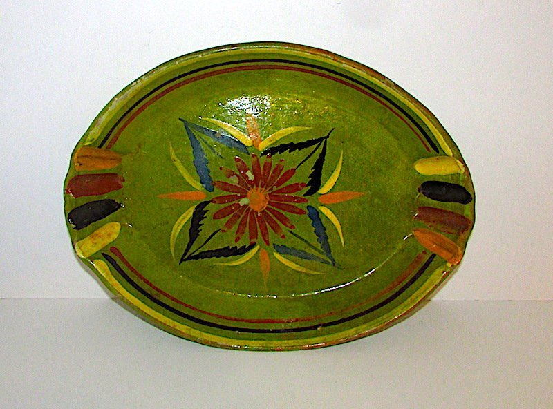Vintage Mexican Green Tonala Bowl