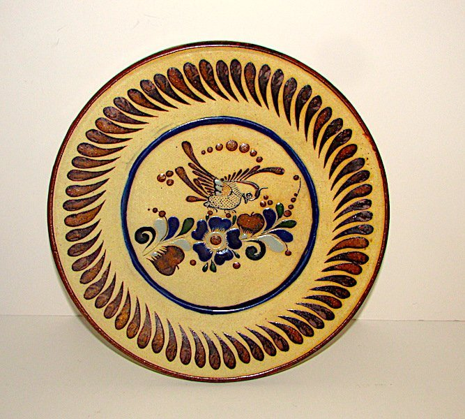 Mexican Tonala Pottery Decorative Plate