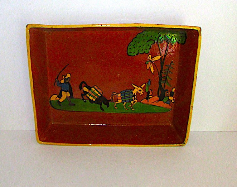 Vintage Mexican Tlaquepaque Pottery Serving Platter