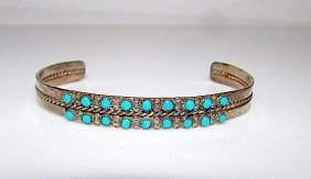 Old Pawn Native American Zuni Sterling Silver Sleeping