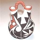 Vintage ACOMA Pueblo Pottery Wedding Vase