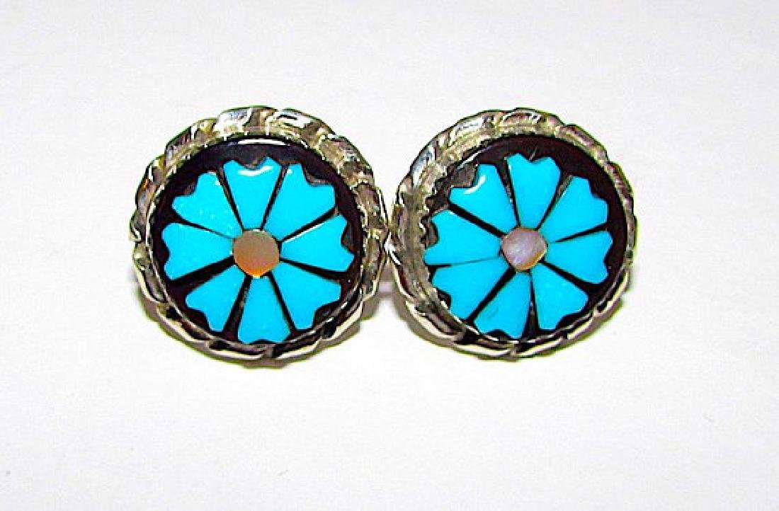 Native American Zuni Sterling Silver Turquoise