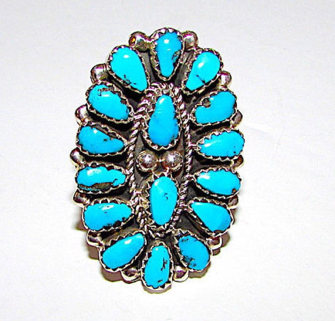 Navajo Eric Wilson Sterling Silver Kingman Turquoise
