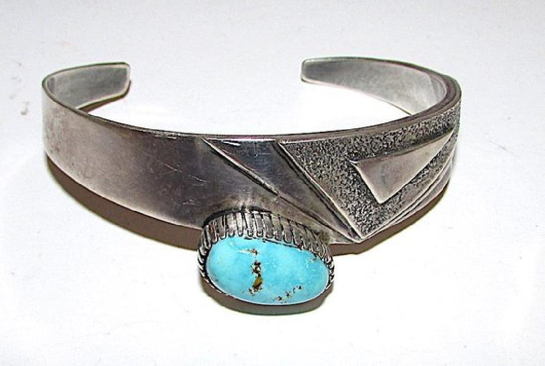 Native American Navajo Kingman Turquoise Sterling