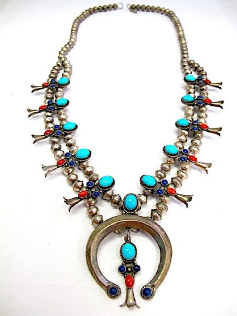 Old Pawn Navajo Sterling Silver Sleeping Beauty - 2