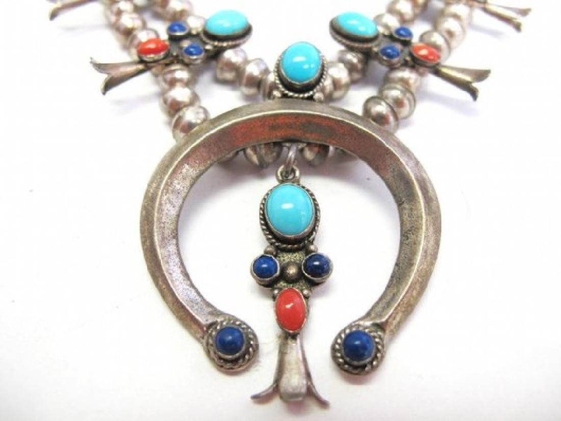 Old Pawn Navajo Sterling Silver Sleeping Beauty - 3