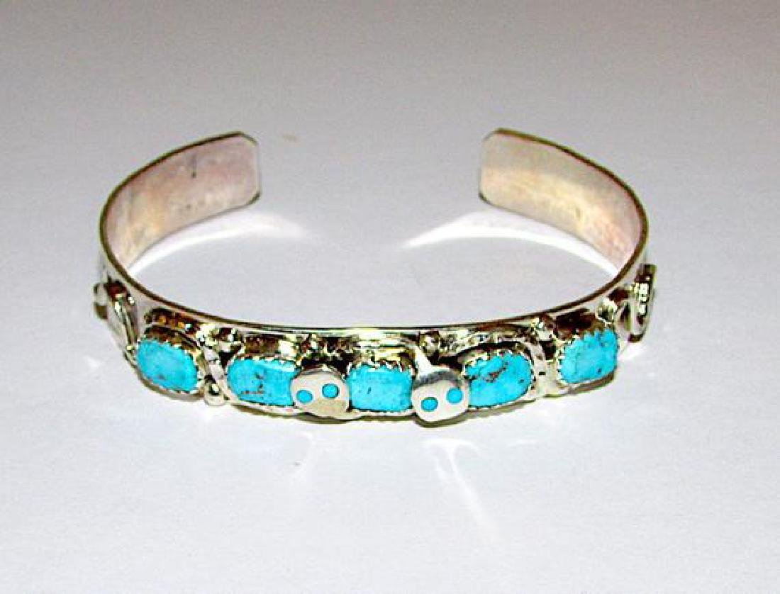 Zuni Sterling Silver Sleeping Beauty Mine Turquoise - 3