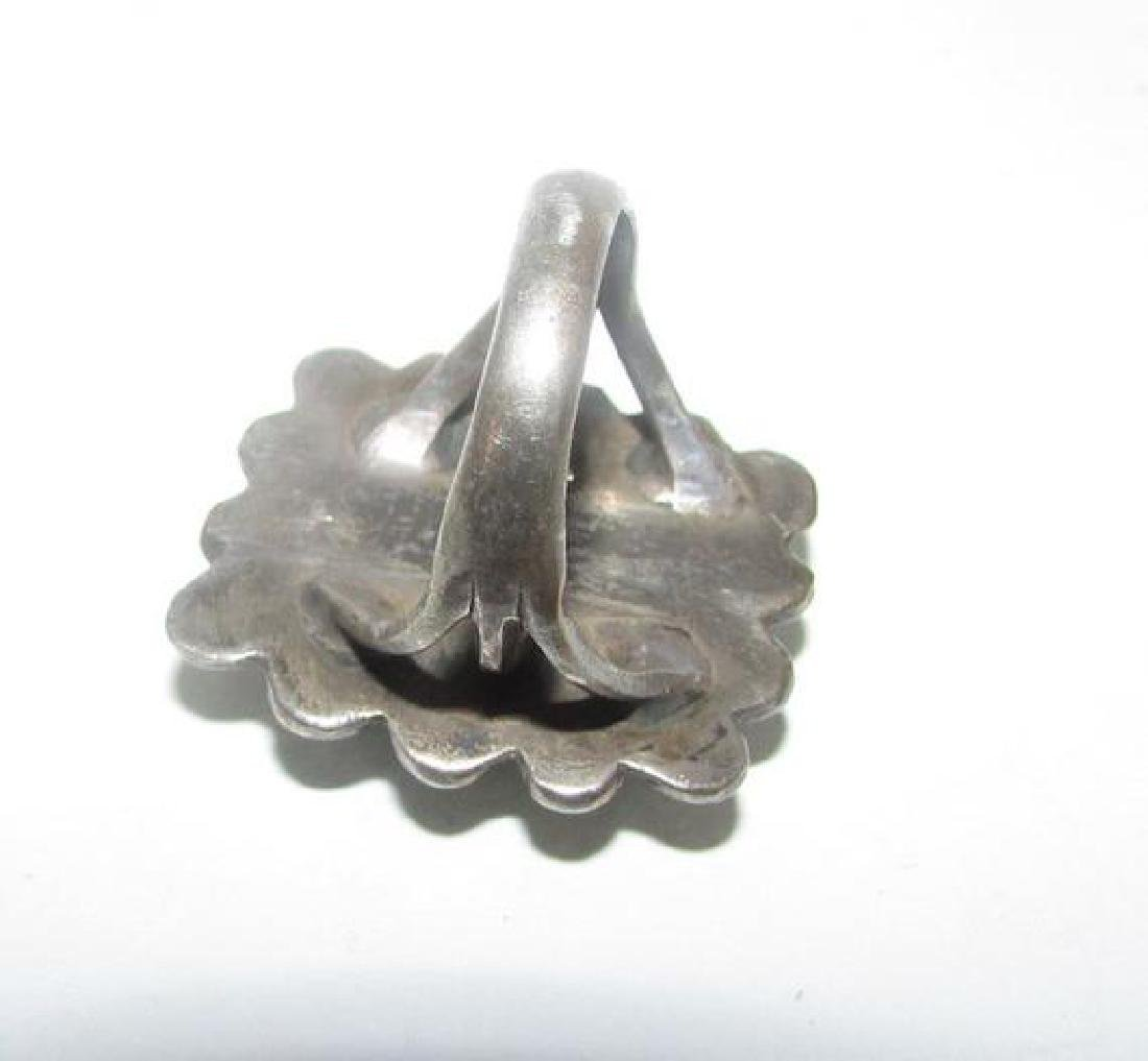 Navajo Old Pawn Sterling Silver Cerrillos Mine - 2