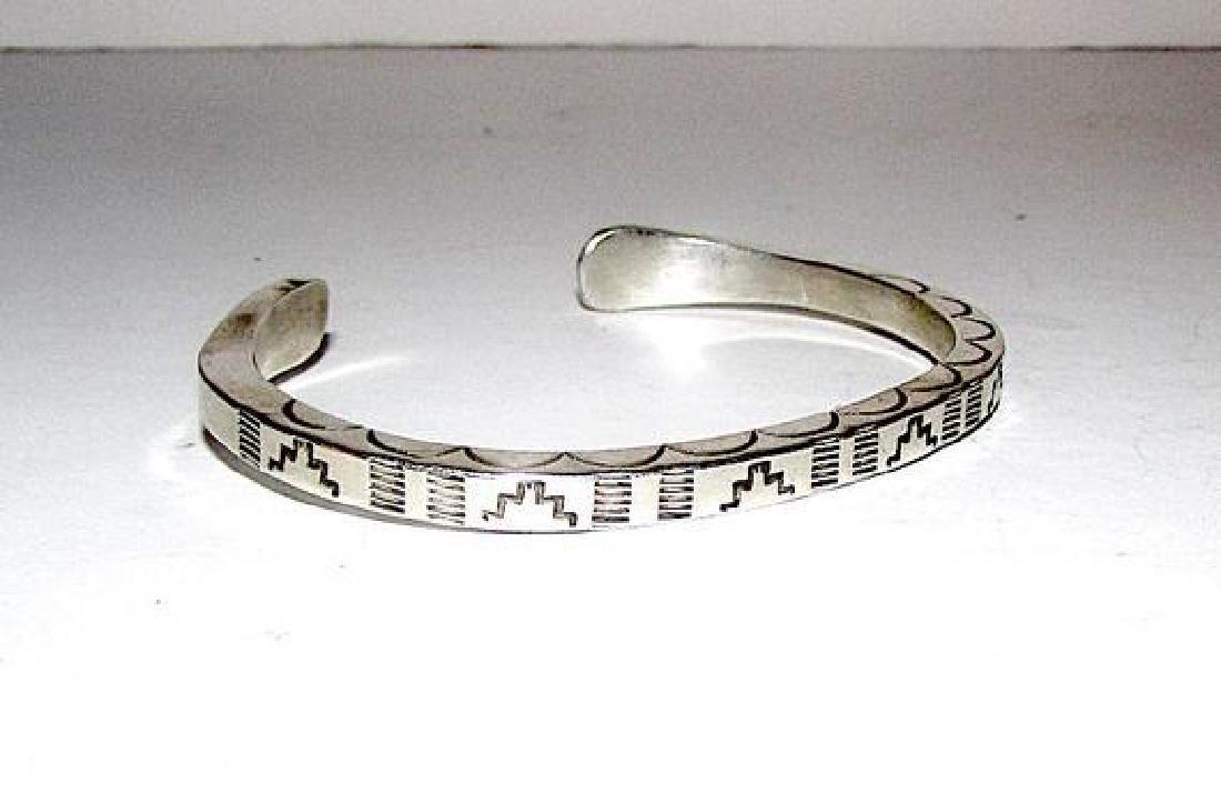 Native American Navajo Sterling Silver Cuff Bracelet