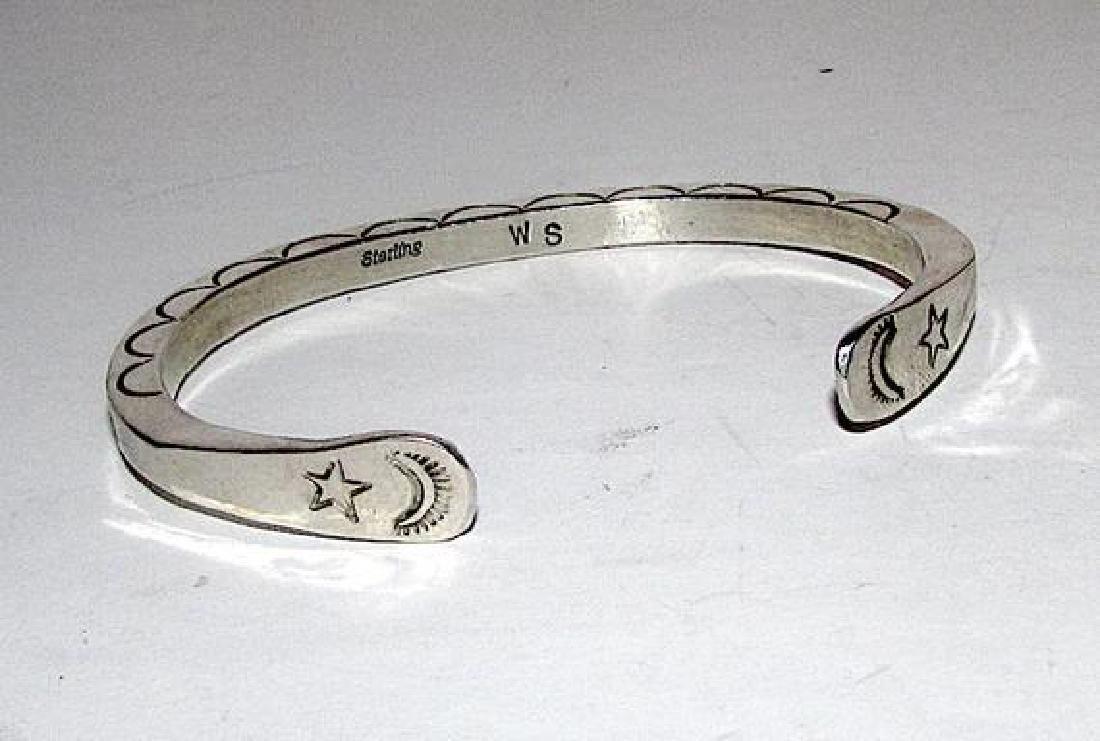 Native American Navajo Sterling Silver Cuff Bracelet - 2