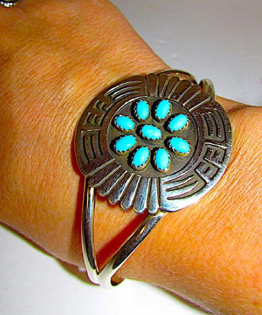 Native American Navajo Sterling Silver Turquoise