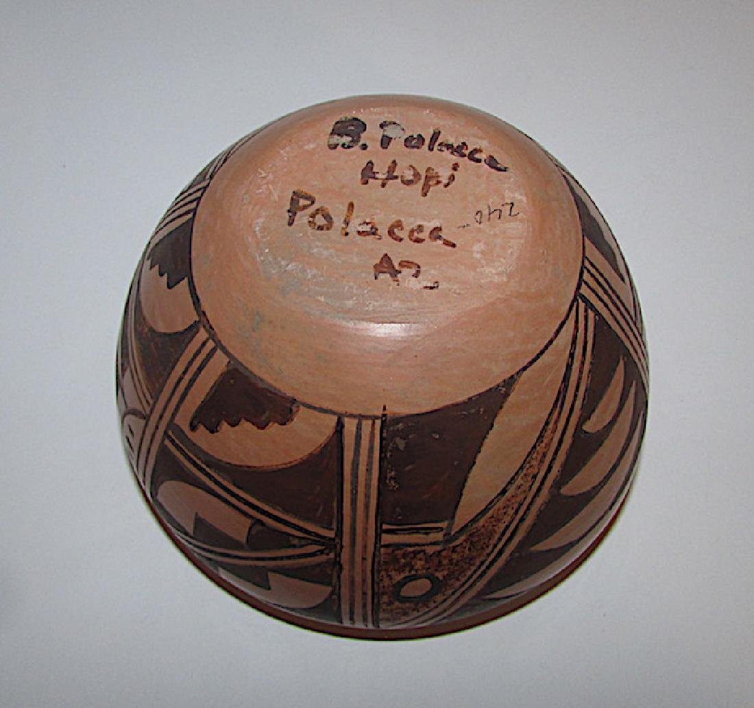 Hopi B Polacca Eye Dazzler Polychrome Pottery - 3