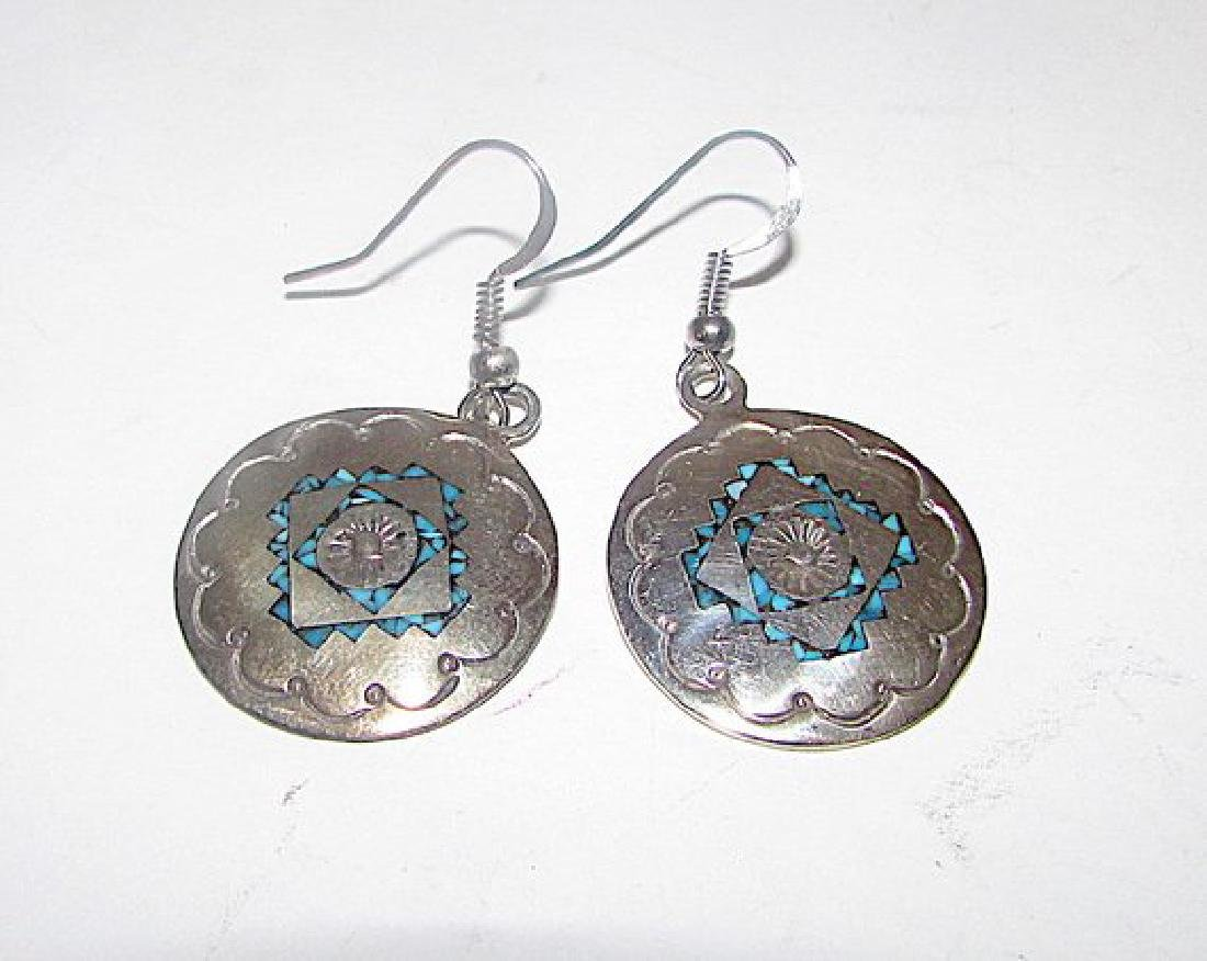 Navajo Charlie Singer Sterling Silver Chip Turquoise