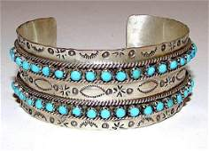 Zuni Sterling Silver Sleeping Beauty Mine Turquoise