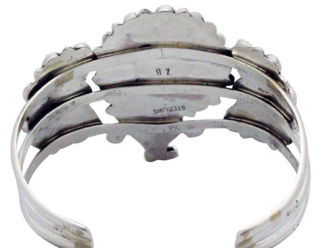 Vintage Navajo Sterling Flower Bracelet - 3