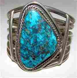 Vintage Navajo  Sterling Statement Bracelet