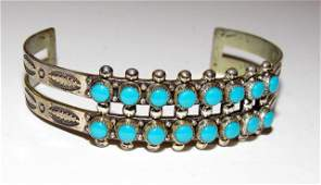 Old Pawn Zuni Sterling Cuff Bracelet