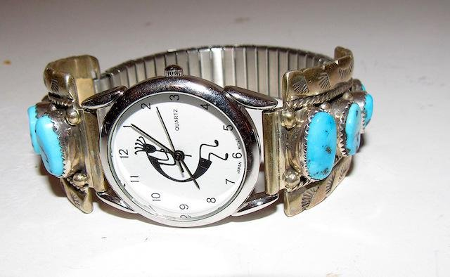 Navajo Sterling Kingman Man Watch