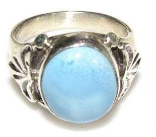 Navajo Golden Hills Turquoise Ring Sterling Silver