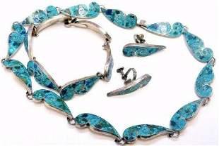 VTG TAXCO Mexico Necklace Bracelet Earrings Set