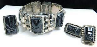 VTG Pre-Eagle TAXCO Mexico Bracelet Earrings Ring Set