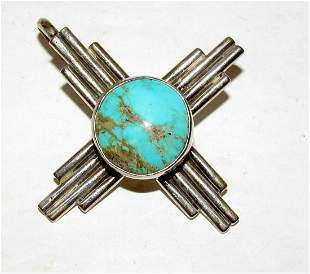 Navajo ADAM FIERRO Sterling Silver Royston Turquoise
