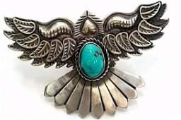 D. Cadman Thunderbird Ring Size 7 Adjustable Navajo