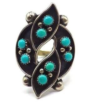 VTG Zuni Ring Size 9 Sterling Silver Snake Eye