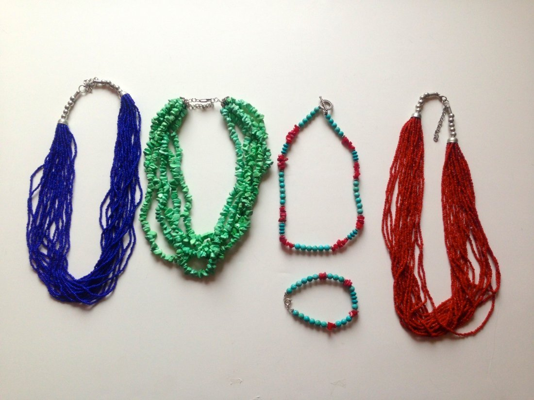 SOUTHWESTERN NECKLACES LOT OF 4
