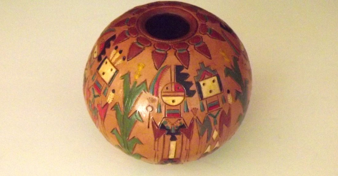 NAVAJO YEI Pottery by KEN AND IRENE WHITE.