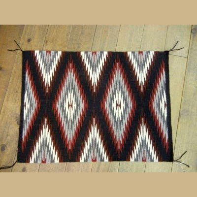 AUTHENTIC NAVAJO TIGHTLY WOVEN WOOL RUG