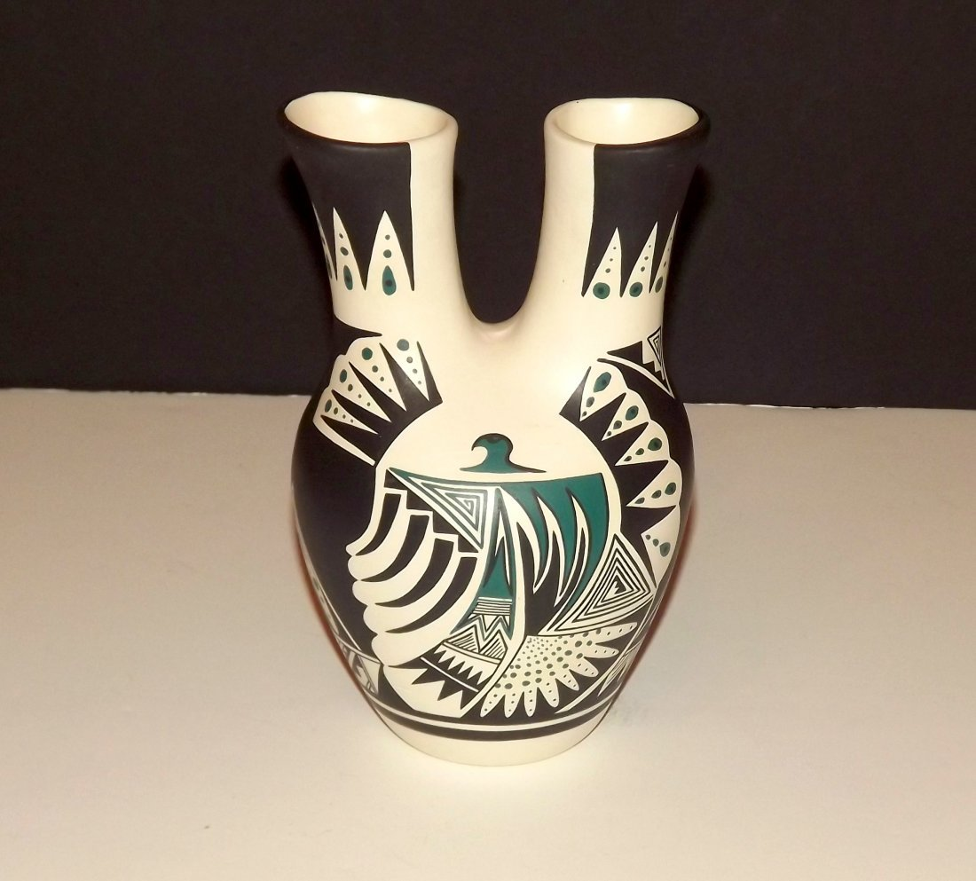 Vintage Navajo Native American Wedding Vase. 1979