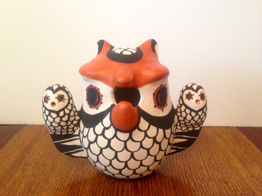 NATIVE AMERICAN ACOMA POTTERY OWL EFFIGY/FIGURINE